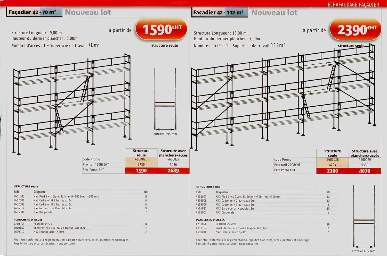 catalogue des promotions comabi cristofeni page 11 lot de planchers acier echafaudage comabi. Black Bedroom Furniture Sets. Home Design Ideas